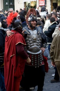 Modern gladiators in Rome