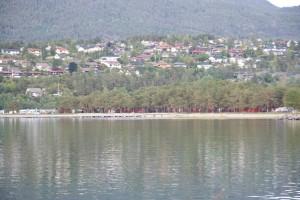 Один из домиков на берегу - наш