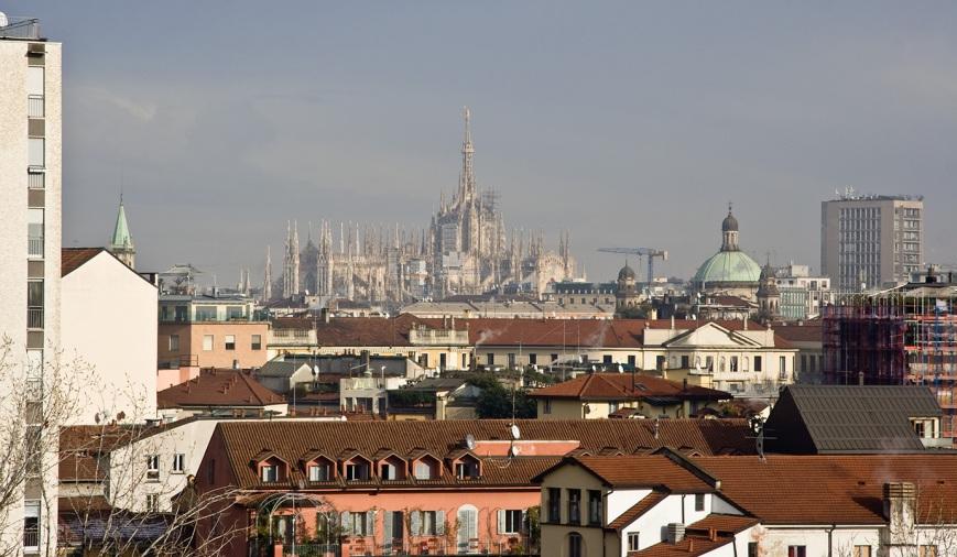 Вид из отеля Milano Corso Genova
