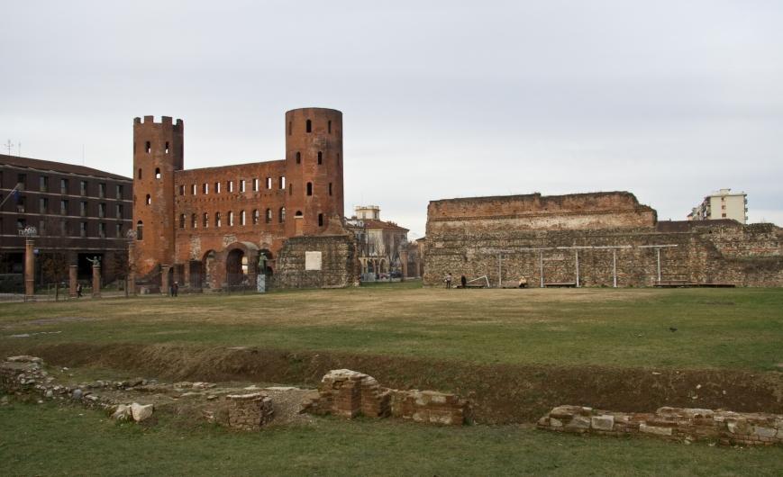Остатки римской стены