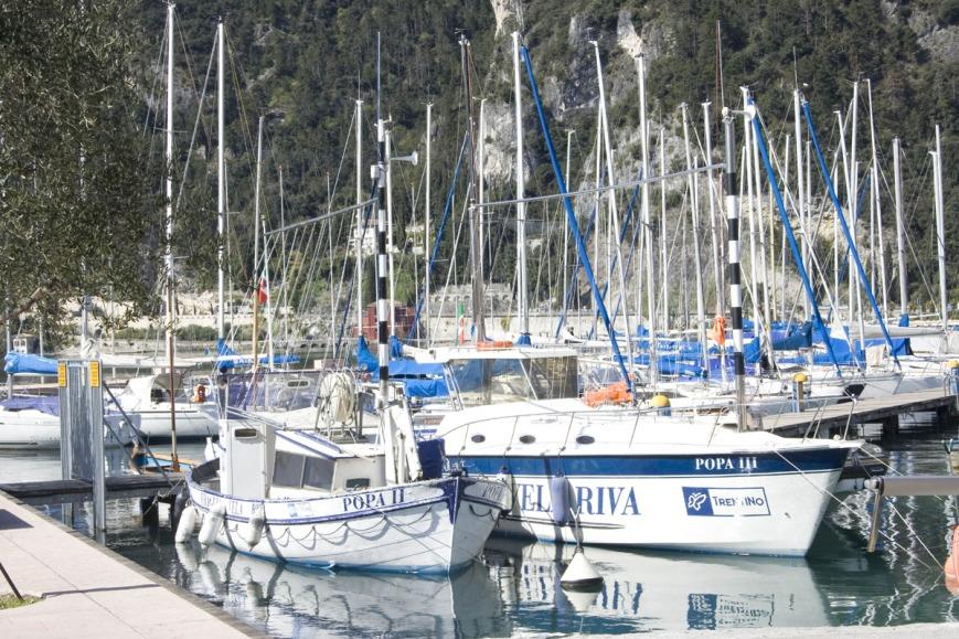Яхты на озере Гарда