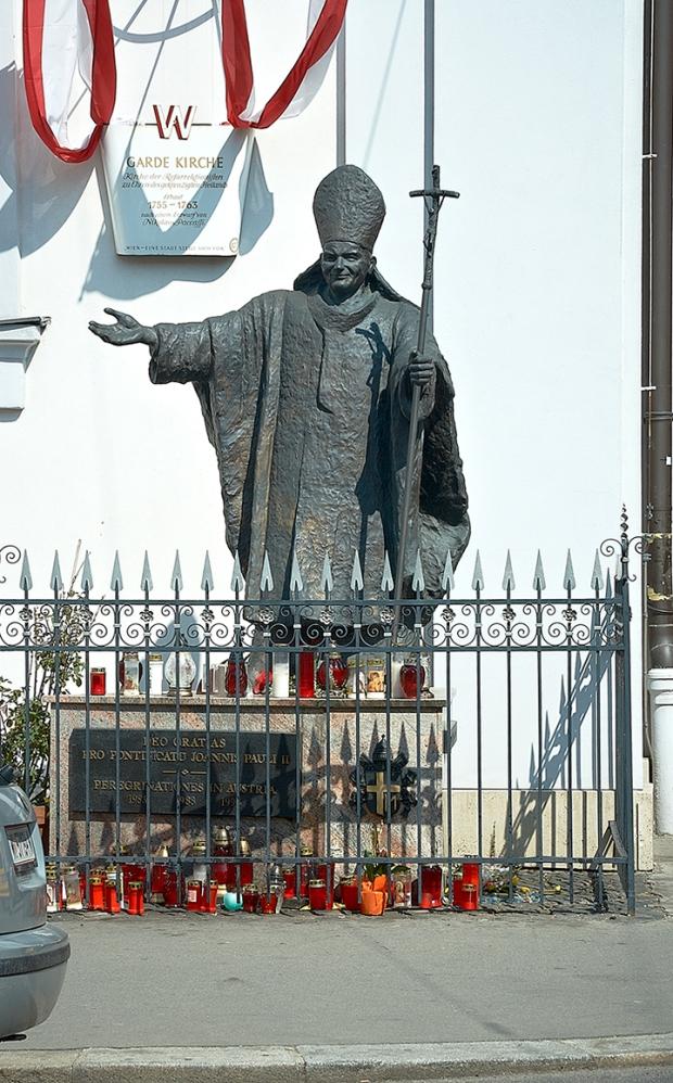 Памятник Иоанну Павлу II в Вене