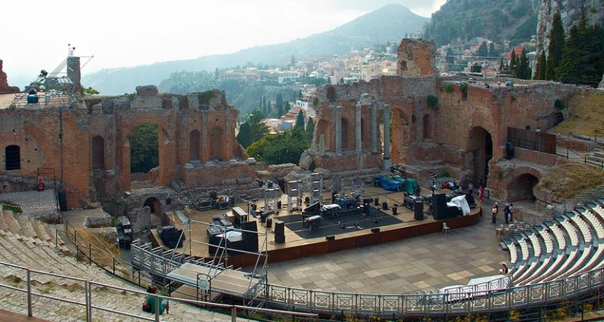 Таормина. Греческий театр