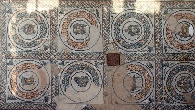 Мозаики Виллы Казале. Звери