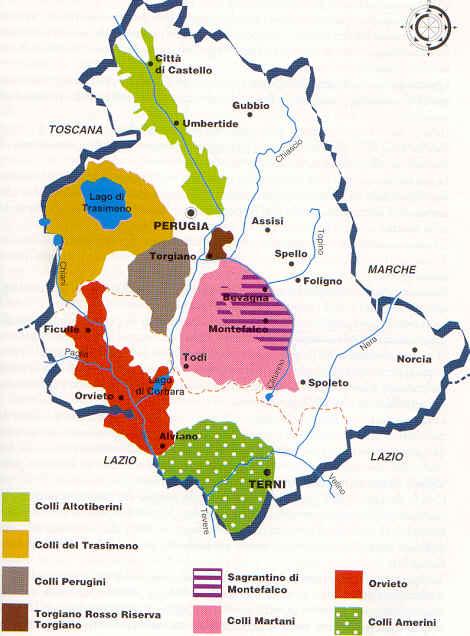 Umbrian DOC регионы