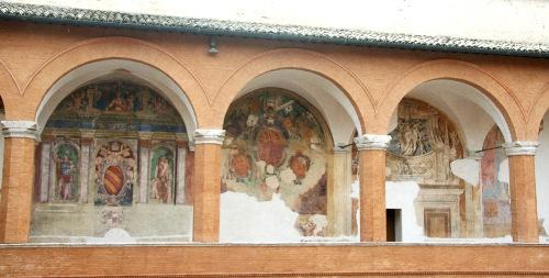 Фрески в крепости Сполето