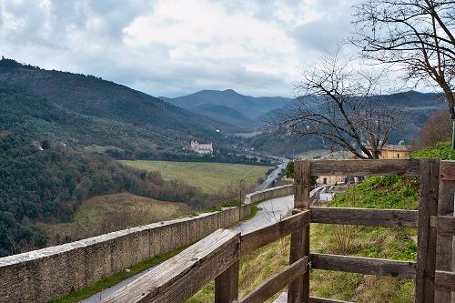 Вид из крепости Сполето